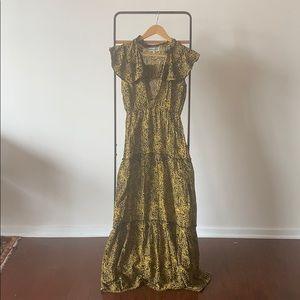 Apiece Apart Wild Reed Cotton Silk Maxi Dress